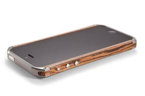 Iphone 5 5s Wooden Bumper iphone 5 or iphone 5s bumper wooden and stainless steel