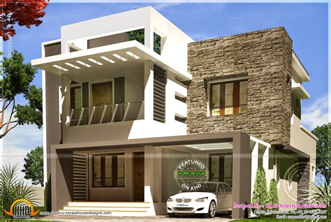 1607 sq ft luxury 3 bedroom contemporary villa home design april 2014 kerala home design and floor plans