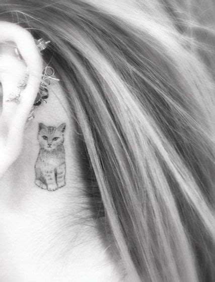 small cat tattoo behind ear 40 amazing the ear tattoos for small cat