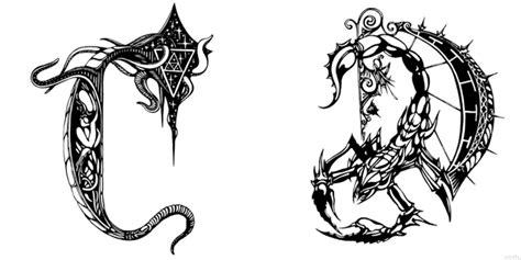 Unique Alphabet Letter Font Illustrations by Irina Batkova D Alphabet Design