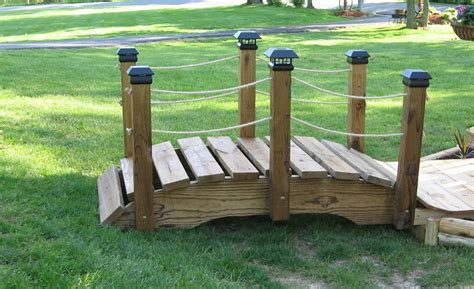 how to make a wooden bridge diy building a wooden garden bridge plans free