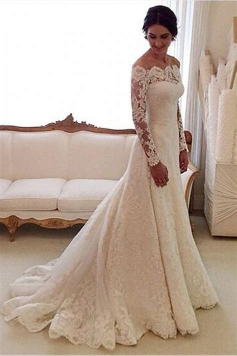 Shoulder Lace Wedding Dress the shoulder tulle appliques mermaid lace sleeve
