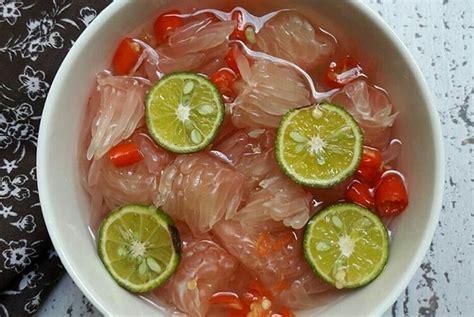 resep asinan jeruk bali   hits  instagram