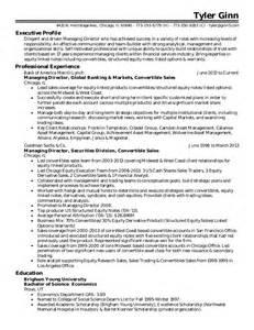 Goldman Sachs Resume Exle by Ginn Resume