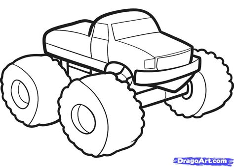 monster trucks drawings how to draw a monster truck for kids step by step cars