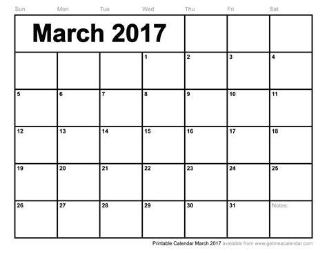 printable calendar march 2017 printable calendar march 2017