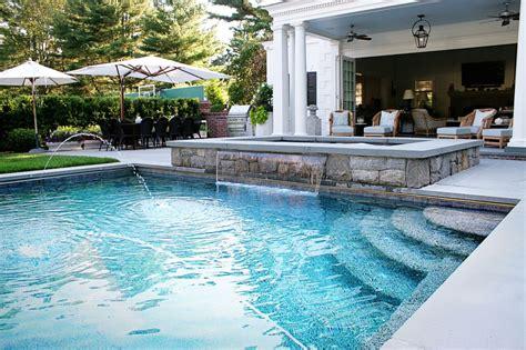 backyard pools and spas top custom pool designs in connecticut custom swimming pool