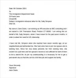 Bank Letter For Immigration Personal Reference Letter Template 12 Sles