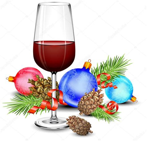 christmas wine glass svg christmas wine glass stock vector 169 creator76 2768484
