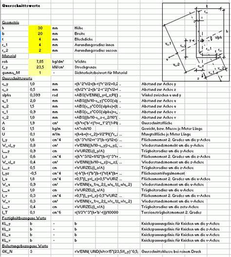 widerstandsmoment tabelle widerstandsmoment l profil tabelle metallteile verbinden