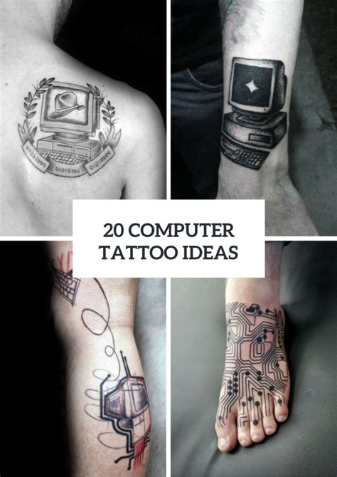 computer tattoo 20 computer inspired ideas to repeat styleoholic