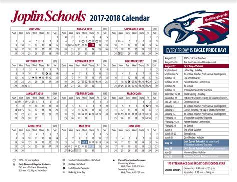 Calendar 2018 Summer Home Joplin Schools
