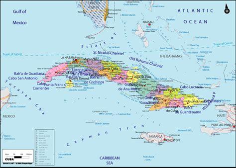 cuba map images kuba politische karte