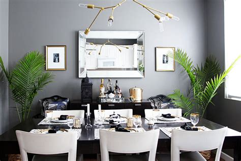 modern glam dining interiors  color