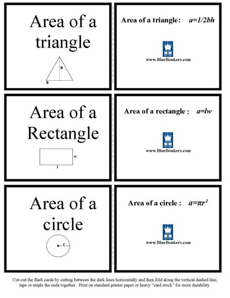 printable area formulas search results for printable pictures of solids