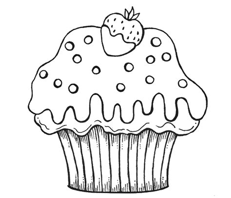 print download cupcakes coloring pages