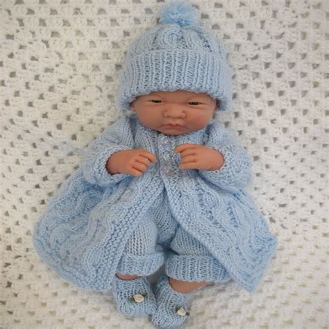 preemie baby clothes knitting creative dolls designs knitting pattern matinee set for 10