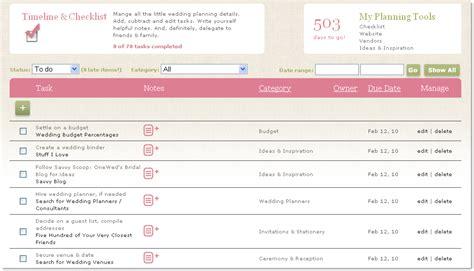 Wedding Checklist With Timeline by Wedding Planning Checklist Timeline Onewed