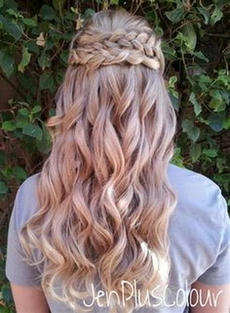 braided half up waterfall kids hair ideas pinterest half up half down braided hairstyles