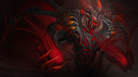 dota 2 nevermore arcana wallpaper shadow fiend drakonid reaper dota 2 wallpapers
