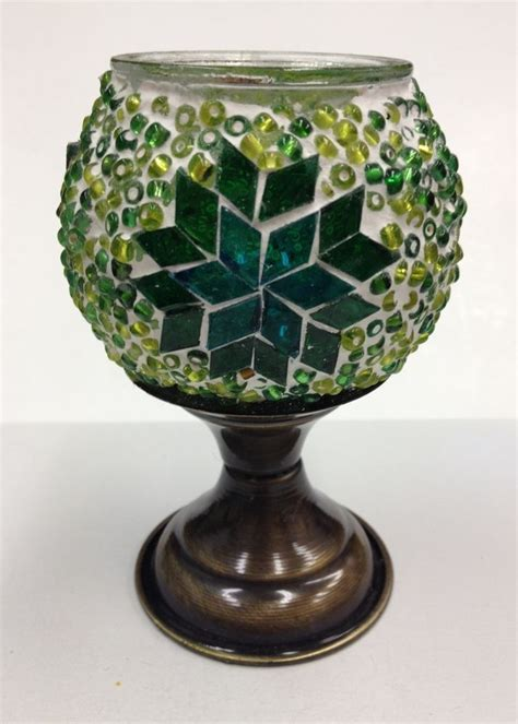 Handcrafted Glass - turkish handcrafted mosaic table candle holder votive