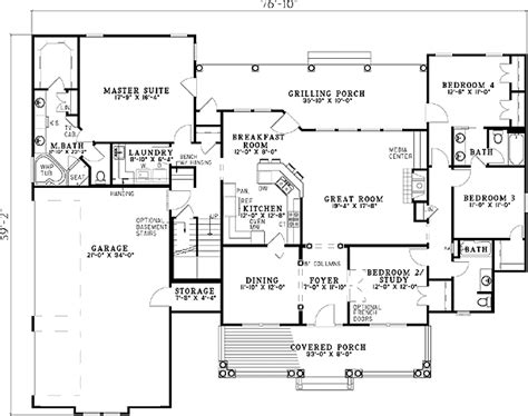 Split Bedroom House Plans by One Story Split Bedroom Home Plans Home Design And Style