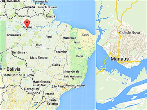 map of manaus manaus brazil s remotest city yahoo