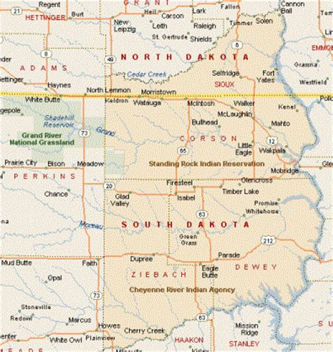standing rock reservation map coll geography