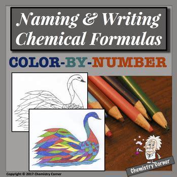 Naming And Writing Chemical Formulas Worksheet