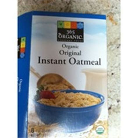 Oat Meal Organik Non Instant 365 everyday value organic organic instant oatmeal original calories nutrition analysis