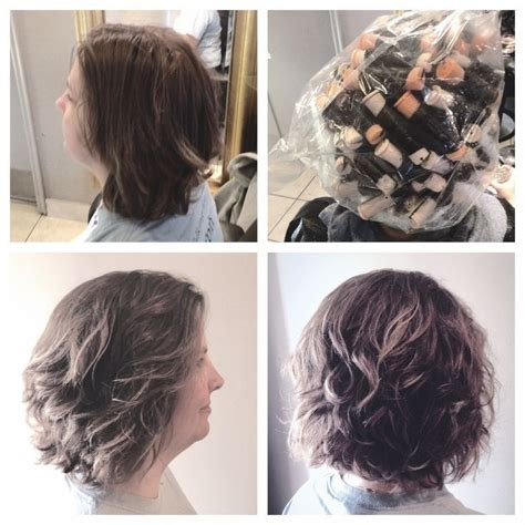 short body wave perm hairstyles spiral perm on a bob body wave hair by annifaye my