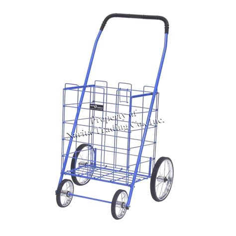 easy wheels mitey shopping cart in blue 777bl the home depot