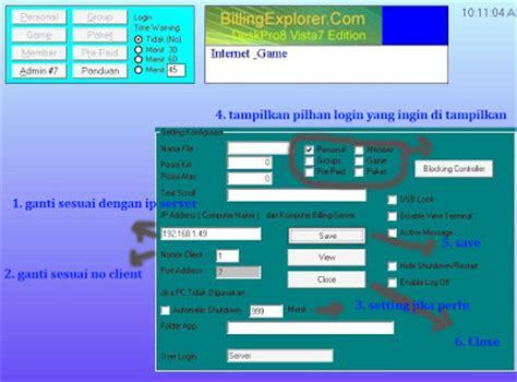 Jasa Setting Start Up Progran Otomatis cara menghubungkan client ke server billing explorer souletz