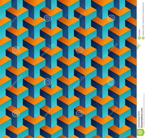 3d Abstract Pattern Pouch Graph isometric 3d shapes seamless pattern background stock