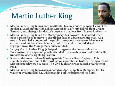 biography martin luther king biography of final