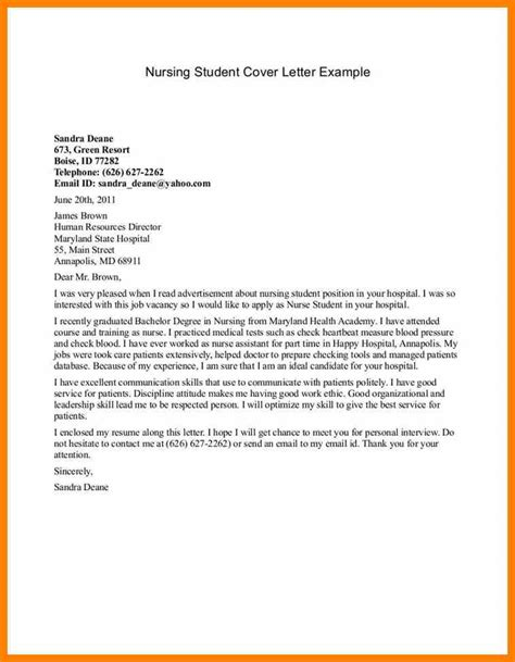 study application letter 4 cover letter nursing student target cashier