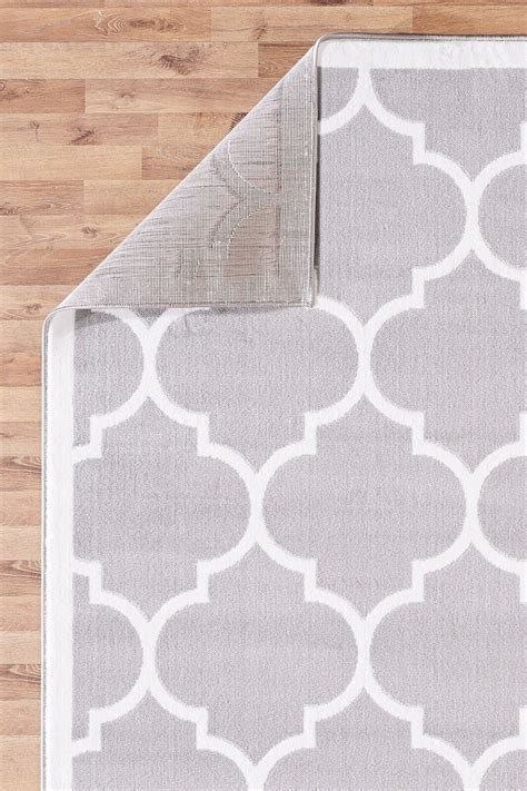 large modern rug large modern geometric moroccan trellis thin carpet silver contemporary area rug ebay