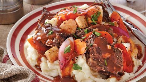 beef roast with root vegetables cooker root vegetable pot roast recipe from pillsbury