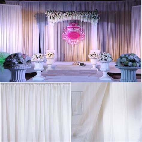 White Sheer Silk Drapes Panels Hanging Curtains Backdrop