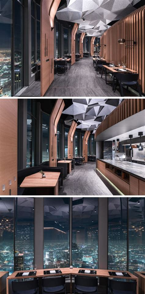 hexagonally shaped ceiling coffers  dampen sound
