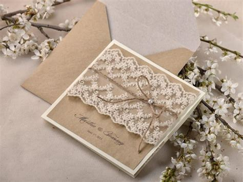 lace wedding invitations with pockets rustic wedding invitations 20 wedding invitation suite