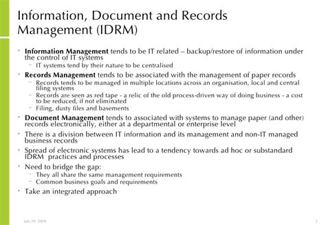 Information Records Structured Approach To Implementing Information And Records Managemen
