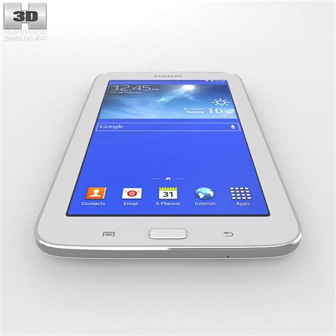 Samsung Galaxy Tab 3 Lite White samsung galaxy tab 3 lite white 3d model hum3d