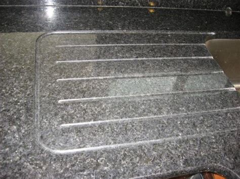 integrated drain board in granite with runnels.   runnels