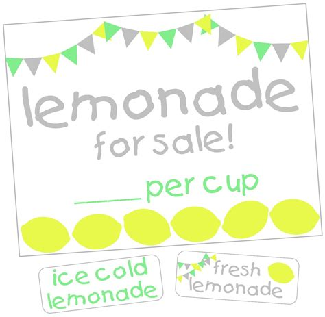 lemonade stand kit the scrap shoppe