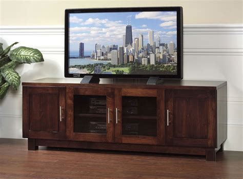 Tv Stands With Glass Doors by 2 Glass Door Tv Stand Ohio Hardwood Furniture