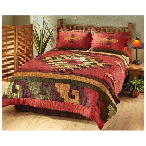 southwestern style comforter sets castlecreek san carlos chenille comforter set 226564