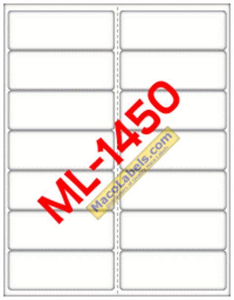 maco label template maco ml 1450 ml 1450 ml1450 laser inkjet label white