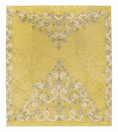 damask coverlet a damask coverlet italian mid 18th century christie s