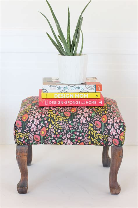 diy ottoman reupholstery alice and loisdiy reupholstered stool
